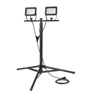 Bouwlamp 2x 30 watt LED op Statief