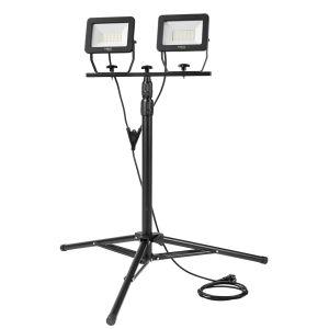 Bouwlamp 2x 50 watt LED op Statief